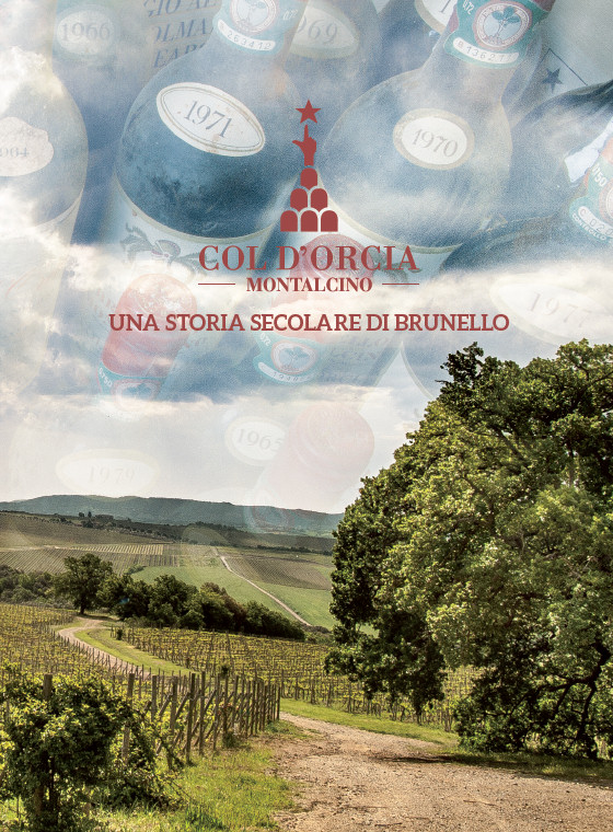 Col d orcia una storia secolare di brunello c p adver for Piani di una storia