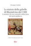 Lo statuto delle gabelle di Montalcino del 1389